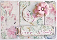 Friends Forever.... and ever and ever and ever!! Gorgeous card created by FABulicious design team member Vanessa Bester from South Africa using FabScraps C108 Pink Lemonade collection.