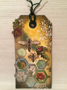 Distress ink, Tim Holtz paper and dies