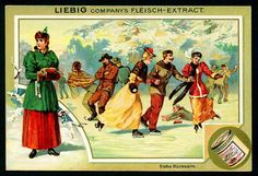 1896. Sports (Ice Skating) trading card issued by Liebig Extract of Beef Company. S494.