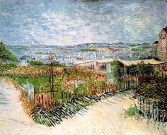 Vincent van Gogh, Vegetable Gardens in Montmartre 1887. Paris, France. oil on canvas, Van Gogh Museum, Amsterdam, The Netherlands