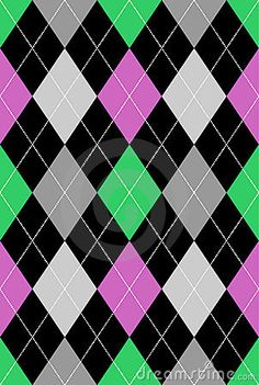 Argyle Pattern Pink & Green EPS by Beaniebeagle, via Dreamstime