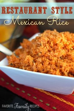 This recipe for Mexican Rice rivals anything you can get in a restaurant. It has the perfect consistency and just the right amount of seasoning. This is one of our most popular recipes.