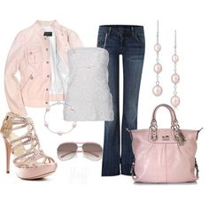 "POLYVORE PINK OUTFITS | pink"" by fluffof5 on Polyvore 