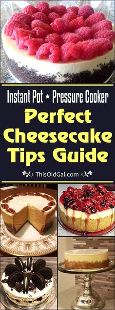 Before you get started making a Cheesecake, please read this article, Perfect Pressure Cooker Cheesecake Tips & Guide, to learn to make Perfect Cheesecake. via @thisoldgalcooks