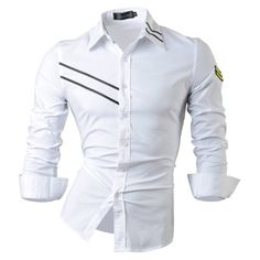 Spring Autumn Features Shirts Men Casual Jeans Shirt New Arrival Long Sleeve Casual Slim Fit Male Shirts Mens Designer Shirts, Designer Clothes For Men, Indian Men Fashion, Mens Fashion Suits, African Clothing For Men, Mens Clothing Styles, Mens High Collar Shirts, Shirt Men, Cool Shirts