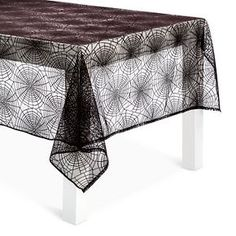 Halloween Black Lace Tablecloth - Spritz™