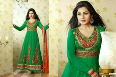 Semi stitched Anarkali with resham work Deal of the Day: 2499 http://www.themagicalthread.com/products-page/designer-suits/