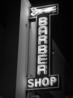 neon barbershop sign