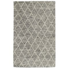 Villa Home Collection Diamond Looped Wool Rug (€965) ❤ liked on Polyvore featuring home, rugs, grey, indian wool rugs, gray wool rug, india wool rugs, diamond pattern rug and woven rug