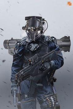 Soldier, Florent Llamas on ArtStation at https://www.artstation.com/artwork/soldier-90347354-5d32-4bd4-8ce4-ebd985f058b3