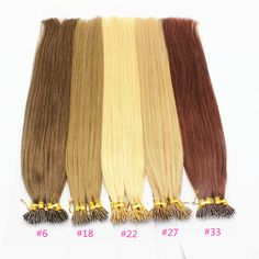 2a7334e3a5f US $50.0  100 beads Undetectable Natural Color 100% Peruvian Remy Human Hair  Ash Honey Blonde Auburn Full Micro Nano Ring Hair Extensions-in Micro Loop  Ring ...