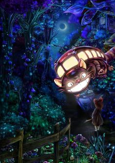 Makes me think of the cheshire cat. Miyazaki The Cat Bus