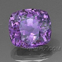 Fancy Sapphire -- plummy purple in daylight, and just gets hotter purple in artificial light