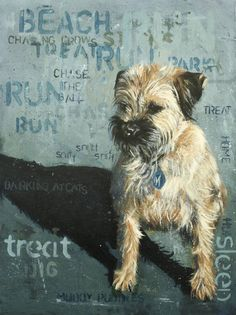 A Dog's Life.   Border Terrier Painting.