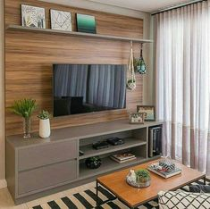 Tv Unit Decor, Tv Wall Decor, Cute Room Decor, Tv Unit Furniture, Furniture Design, Modern Classic Interior, Modern Tv Units, Tv Wall Design, Apartment Design