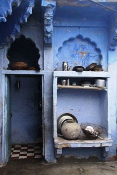 Blue Door to Jodhpur by Zuzana Zwiebel