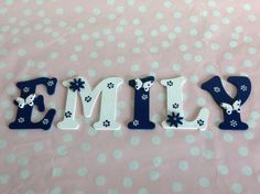 Custom Hand Made Wooden Alphabet Letter por WoodenBespokePlaques