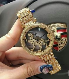 b965c9697a02f Wrist Watches Quartz-Watch High-Grade Women s Watch Rotating domineering  leopard bring good luck Stainless Steel Strap Clock - Watch Shop