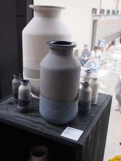 Cor Unum ceramics presentation in Milan. Plunge Vases, design Jeroen Wand. For sale at Gimmii.nl