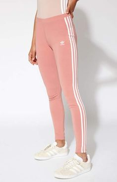 Details The always gym-ready Pink 3-Stripes Leggings offer the adidas iconic  look b9a647f9e5