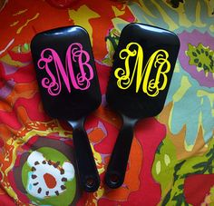 Monogrammed black paddle brush.  Perfect for Back to School, Teacher Gifts, Bridesmaids! on Etsy, $5.00