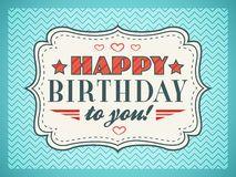 Carte de joyeux anniversaire La typographie marque avec des lettres le type de fonte Image stock