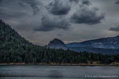 Rimrock Lake by Dave Beal on Capture Southwest Washington // Rimrock Lake east of White Pass. The big rock reminds me of Beacon Rock. There was a lot of haze in the air from fires in Goldendale and Chelan at the time.
