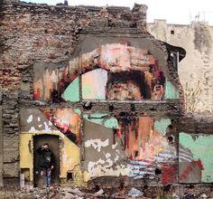 Lodz, Polonia: nuovo pezzo dello street artist spagnolo Mesa.