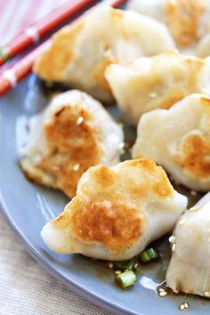 Pan-fried Dumplings - BEST dumplings recipe you'll find online! Juicy, crispy dumplings with meat, veggies and pan-fried to golden perfection | rasamalaysia.com