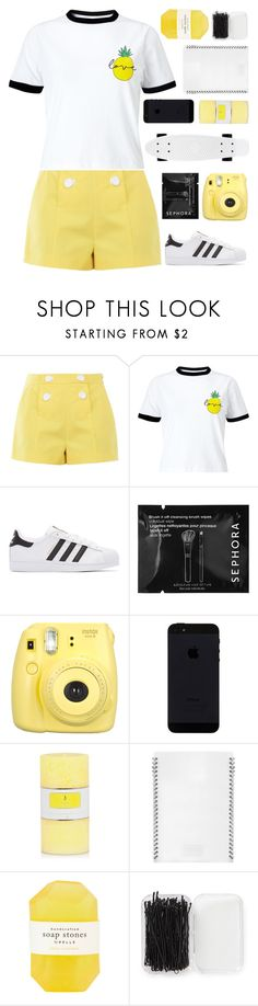 """MAKE A MOVE"" by dianakhuzatyan ❤ liked on Polyvore featuring Boutique Moschino, Miss Selfridge, adidas Originals, Sephora Collection, Fujifilm, L'ATELIER d'exercices, Pelle, Forever 21, polyvorecommunity and polyvoreeditorial"