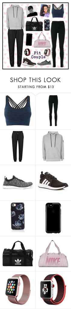 """""""°Couple Goals: Sporty Style°"""" by xxflowersxx ❤ liked on Polyvore featuring Pepper & Mayne, Philipp Plein, Nicce, Athletic Propulsion Labs, adidas, Kate Spade, Speck, NIKE, Apple and love"""