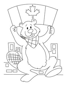 Canada birthday is on July. So they celebrate their birthday with wave of the flag of Canada in great pomp. Canada Coloring Pages is sp. Flag Coloring Pages, Free Coloring, Coloring Pages For Kids, Coloring Sheets, Daycare Themes, Daycare Crafts, Canada Day Crafts, Canada Day Party, Beaver Scouts