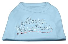 Merry Christmas Rhinestone Shirt Baby Blue M (12)