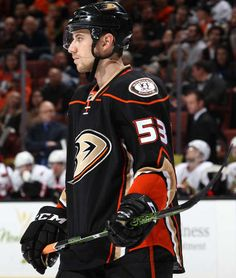 Shea Theodore of the Anaheim Ducks looks on during the game against the Ottawa Senators Nhl 2016, Ducks Hockey, Anaheim Ducks, Ottawa, Cute Guys, Game, Cute Teenage Boys, Handsome Man, Gaming