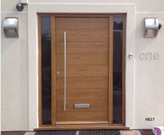 contemporary front doors with sidelights Examples of Design of Three Wooden Entrance Door with Sidelights Oak Front Door, Wooden Front Doors, House Front Door, Oak Doors, Modern Entrance Door, Modern Front Door, Entrance Doors, Wooden Door Design, Main Door Design