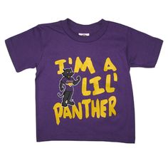 "New Agenda purple toddler t-shirt with ""I'm a Lil' Panther"" on front. $11.99"