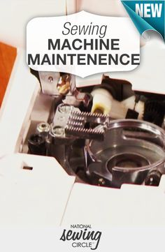 Learn how to make repairs to your machine at home to save money and stitch happily. http://bit.ly/1CEvToB #NSC #learnmoresewmore #LetsSew