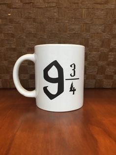9 3/4 mug: A Harry Potter mug fit for your morning commute.