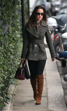 Pippa Middleton. nice style. nice boots!