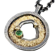Small Geode Pendant by Jenny Reeves