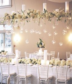 http://redcarpeteventdesignandrentals.com/images/WeddingDecor18.jpg  could see these balls hanging from a grid on patio ceiling.   also from a dining room fixutre