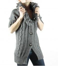 I'd match this  Italian made cardi with a classic shirt.