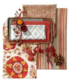 interior design - fabric story board