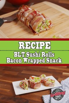 Don't let its simplicity fool you: this bacon wrapped snack is an appetizer worthy of Kings! You only need basic ingredients and 30 minutes Wrap Recipes, Keto Recipes, Snack Recipes, Cooking Recipes, Keto Snacks, Yummy Recipes, Dessert Sushi, Dessert For Dinner, Dinner Party Appetizers