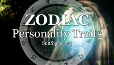 Personality Traits Of Zodiac Signs | Sun Signs