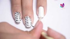 DIY Chevron Nails Art Design with Tutorial