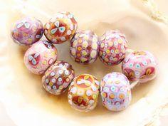 9 Handmade Lampwork Beads by IrinaS on Etsy, $52.00
