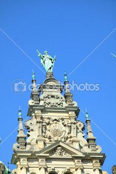 Bilder von der Renaissance-Rathaus von hamburg