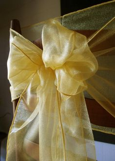 Organza table runners