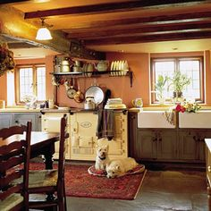 4 Oven AGA - note that dogs love them too! Also, 2 farm sinks. Awesome kitchen!